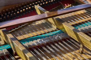 Piano hammers and strings