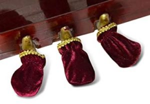 red velvet piano pedal covers