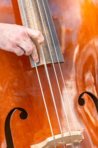 cleaning a bowed bass