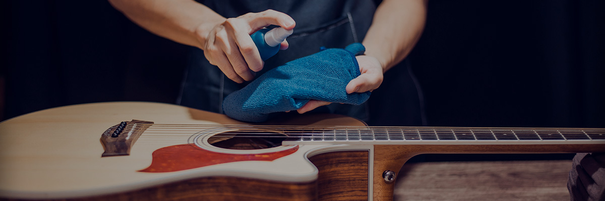 Cover - Cleaning a guitar