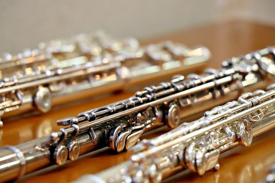 Array of silver flutes