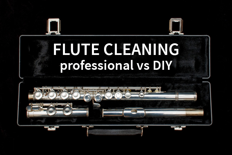 Flute Cleaning: professional vs DIY, flute in case