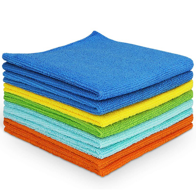 Stack of microfiber cloths (8)