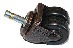 Steel and hard rubber piano caster