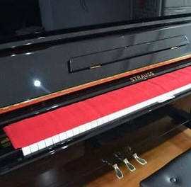 Piano dust cover - red