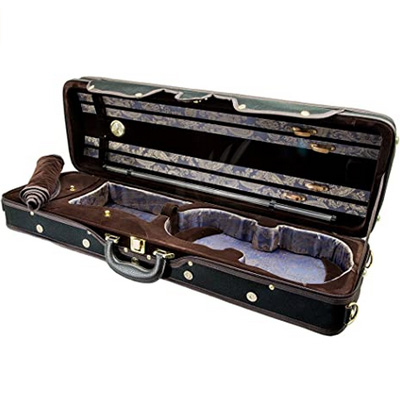 oblong violin case with hygrometer