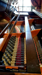 Piano Internal Mechanism - Detailed View Of Strings